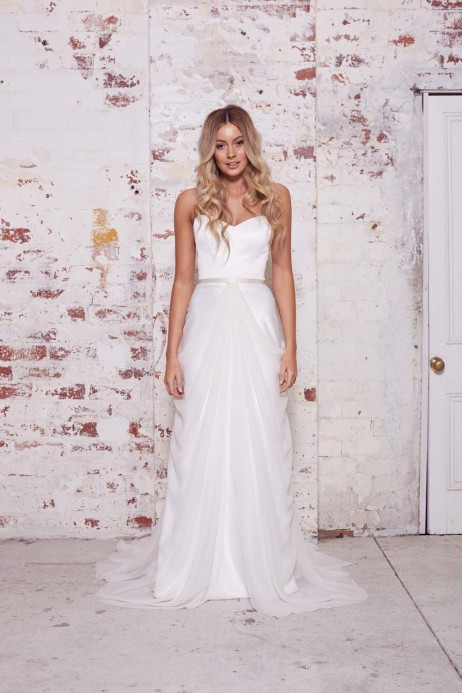 Karen Willis Holmes Style 688811 overlay skirt 688817 strapless gown