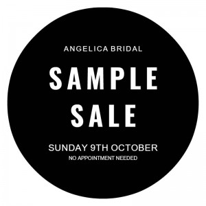 Angelica Bridal London Sample sale 9th Oct 2016