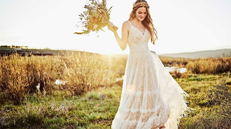 Dress by bohemian wedding dress deigner, All Who Wander