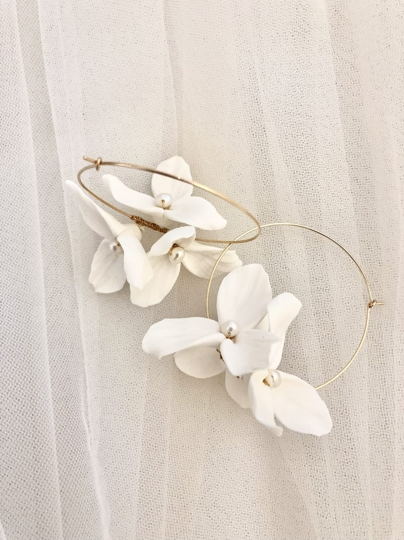 Lola and Pearl Hoop Earrings
